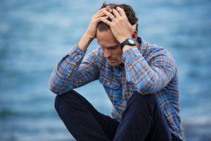 Man Feeling Stressed